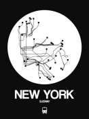 NAXART Studio - New York White Subway Map