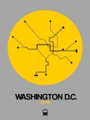 NAXART Studio - Washington D.C. Yellow Subway Map