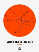 NAXART Studio - Washington D.C. Orange Subway Map