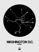 NAXART Studio - Washington D.C. Black Subway Map