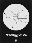 NAXART Studio - Washington D.C. White Subway Map