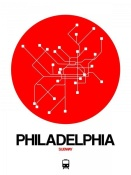 NAXART Studio - Philadelphia Red Subway Map