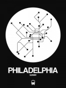 NAXART Studio - Philadelphia White Subway Map