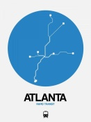 NAXART Studio - Atlanta Blue Subway Map