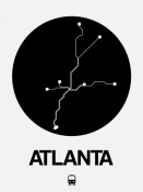 NAXART Studio - Atlanta Black Subway Map