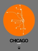 NAXART Studio - Chicago Orange Subway Map