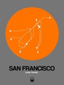 NAXART Studio - San Francisco Orange Subway Map