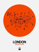 NAXART Studio - London Orange Subway Map