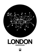 NAXART Studio - London Black Subway Map