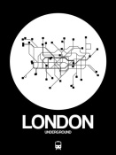 NAXART Studio - London White Subway Map