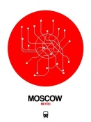 NAXART Studio - Moscow Red Subway Map