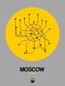 NAXART Studio - Moscow Yellow Subway Map