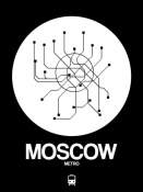 NAXART Studio - Moscow White Subway Map