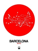 NAXART Studio - Barcelona Red Subway Map