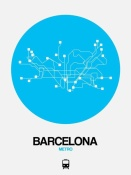 NAXART Studio - Barcelona Blue Subway Map