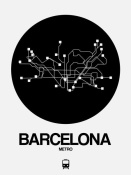 NAXART Studio - Barcelona Black Subway Map