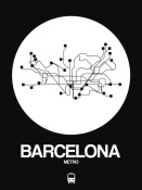 NAXART Studio - Barcelona White Subway Map