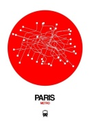 NAXART Studio - Paris Red Subway Map