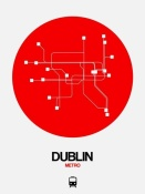 NAXART Studio - Dublin Red Subway Map