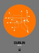 NAXART Studio - Dublin Orange Subway Map