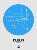 NAXART Studio - Dublin Blue Subway Map