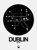 NAXART Studio - Dublin Black Subway Map