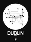 NAXART Studio - Dublin White Subway Map