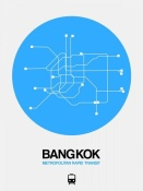 NAXART Studio - Bangkok Blue Subway Map
