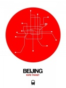 NAXART Studio - Beijing Red Subway Map