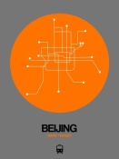 NAXART Studio - Beijing Orange Subway Map