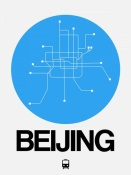 NAXART Studio - Beijing Blue Subway Map