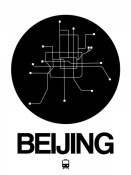 NAXART Studio - Beijing Black Subway Map