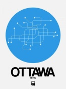 NAXART Studio - Ottawa Blue Subway Map