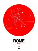 NAXART Studio - Rome Red Subway Map