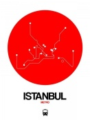 NAXART Studio - Istanbul Red Subway Map