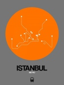 NAXART Studio - Istanbul Orange Subway Map