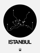 NAXART Studio - Istanbul Black Subway Map