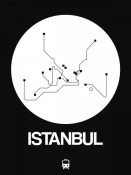 NAXART Studio - Istanbul White Subway Map