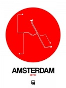NAXART Studio - Amsterdam White Subway Map