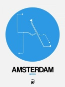 NAXART Studio - Amsterdam Blue Subway Map