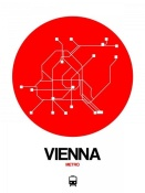 NAXART Studio - Vienna Red Subway Map