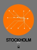 NAXART Studio - Stockholm Orange Subway Map