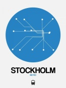 NAXART Studio - Stockholm Blue Subway Map