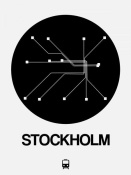 NAXART Studio - Stockholm Black Subway Map