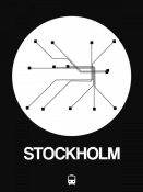 NAXART Studio - Stockholm White Subway Map