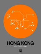 NAXART Studio - Hong Kong Orange Subway Map