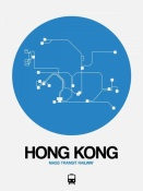 NAXART Studio - Hong Kong Blue Subway Map