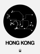 NAXART Studio - Hong Kong Black Subway Map