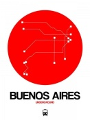 NAXART Studio - Buenos Aires Red Subway Map