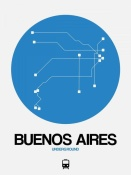 NAXART Studio - Buenos Aires Blue Subway Map